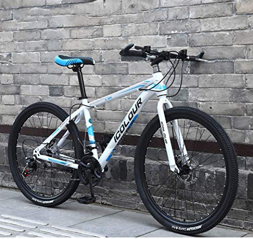 Chenbz 26' Mountain Bike for Adult, Lightweight Aluminum Frame, Front And Rear Disc Brakes, Twist Shifters Through 21 Speeds (Color : A, Size : 21Speed)
