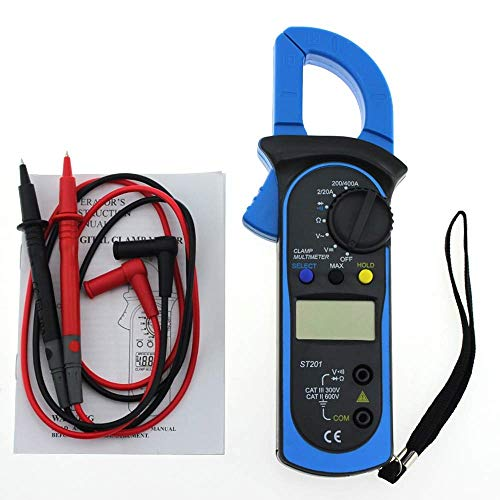 YELLAYBY Intelligent New ST-201 Digital Multimeter Auto Range Clamp Tester Meter DMM AC DC Volt Ohm Frequency Clamp MultiMeter Best Accuracy P20 Digital Display