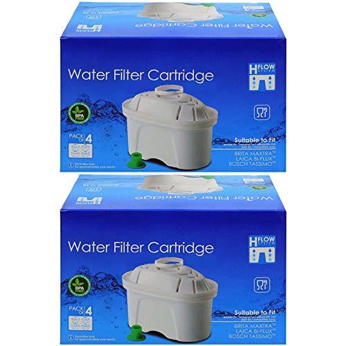 Spares2go - Cartucho de filtro de agua compatible con jarra Brita Aluna Elemaris Fun Marella Maxtra Style XL (8 unidades)