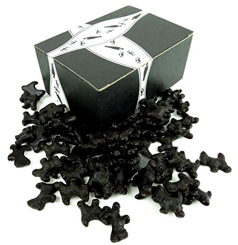 Gimbal's All Natural Black Licorice Scottie Dogs, 2 lb Bag in a BlackTie Box