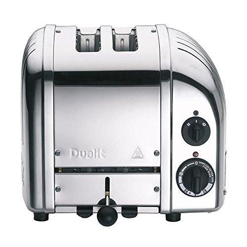 Classic NewGen 2-Scheiben Toaster, silber poliert handgefertigt mit EU Stecker