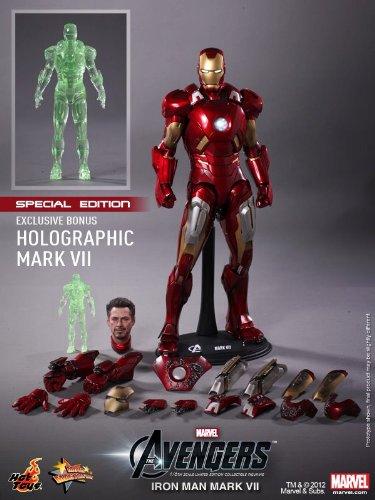 Movie Masterpiece [] 'The Avengers' 1/6 Scale Figure Iron Man Mark 7 [bonus with accessories] (japan import)