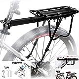 MAIKEHIGH Ajustable Carrier Trasera para Bicicleta portaequipajes Bicicleta Accesorios...