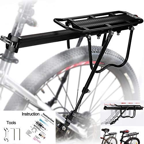 MAIKEHIGH Universale Regolabile Porta Posteriore per Bicicletta Portapacchi Bicicletta Accessori apparecchiature in Bicicletta Supporto footstock Carrier Rack con riflettore