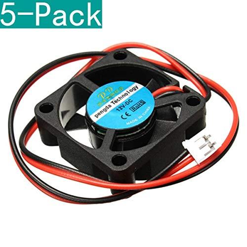 Youmile 5-Pack 12V DC 30mm Ventola di raffreddamento per stampante 3D RAMPS Elettronica/Estrusore - RepRap Prusa