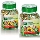 com-four® Fertilizzante Universale 2X 500g, concime bilanciato a Lungo Termine per Tutte Le Piante da Interno, da Balcone e da Esterno, per Una Crescita Forte e Sana