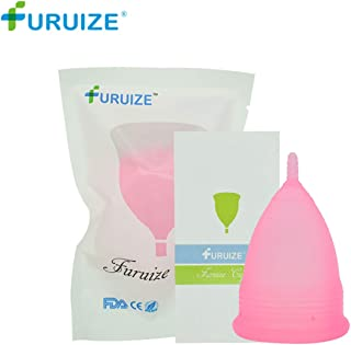 Furuize Menstrual Cup 100% Silicone Regular Flow Soft Beginner Cup Soft Beginner Cup and Most Comfortable Menstrual Cup,No 1 Economical Feminine Alternative Protection for Cloth Sanitary Napkins-Small