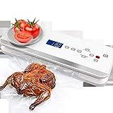 XBR Sellador térmico y Cortador 2 en 1 para Bolsas de plástico, sellador eléctrico de Alimentos con báscula de Cocina Digital integrada, sellador de Aluminio, Ancho del Sello 30 cm