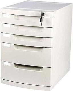 MTYLX Cabinet de Fichiers/Rack, Armoire de Classement Verrouillable 5 Tiroirs Avec Bloc de Stockage de Stockage de Fichier...