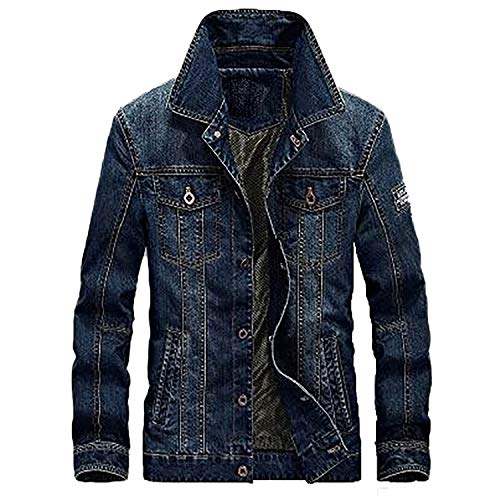 Coat Autumn Winter Denim Jackets Men Jeans Slim Fit Mens Jackets and Coats 001 4XL
