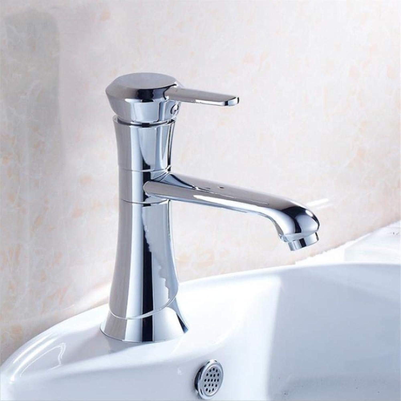 A-YSJ WasserhahnBecken Wasserhahn Wasserhahn Bad Wasserhahn Massivem Messing Chrom Cold & Hot Water Einhand Wasser Spültischarmatur