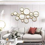 YUXIwang Espejo de maquillaje espejo de maquillaje espejo de pared arte espejos, esculturas decoración del hogar decoración de la vida colgante de pared espejo de entrada dormitorio espejo redondo
