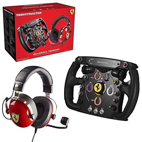 Thrustmaster Scuderia Ferrari Race Kit (Lenkrad AddOn, Gaming-Headset, PS4 / Xbox One / PC)