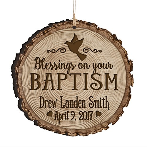 LifeSong Milestones Personalized Baptism 1st Holy Communion Christening Gifts Custom Engraved Ornament Decoration Blessings on Your Baptism (Blessings on Your Baptism)
