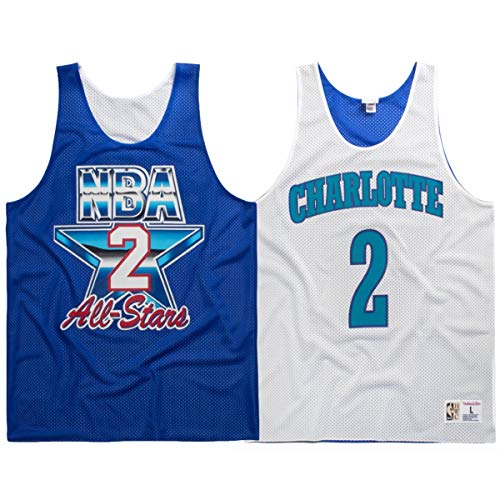 Mitchell & Ness Larry Johnson Charlotte Hornets 1993 All Star Men's Reversible Jersey/Tank (2X-Large)