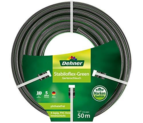 Dehner Gartenschlauch Stabiloflex, Ø 13 mm, Länge 50 m, 1/2 Zoll, Kunststoff, grün