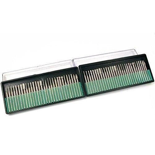 60Diamant beschichtete Burs Schleifstiften Metallverarbeitung Lapidary Tools 1/8von FindingKing Halsketten