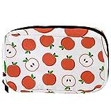 Bolsas de cosméticos TIZORAX Apple Pattern Handy Toiletry Travel Bag Organizador Bolsa de maquillaje para mujeres Niñas