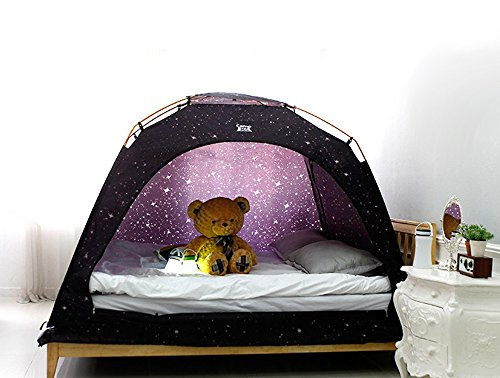 CAMP 365 Child's Indoor Privacy and Play Tent on Bed Sleep Cozy in Drafty Room (Single, Dinosaur)