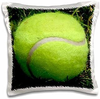Sandy Mertens Outdoor Sports Designs - Tennis Ball Photo in the Grass - 16x16 inch Pillow Case