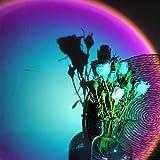 Lámpara proyector de puesta del sol Rainbow Atmosphere LED Luz de noche para el hogar, dormitorio, cafetera, fondo, decoración de pared, lámpara de mesa USB (Rainbow)