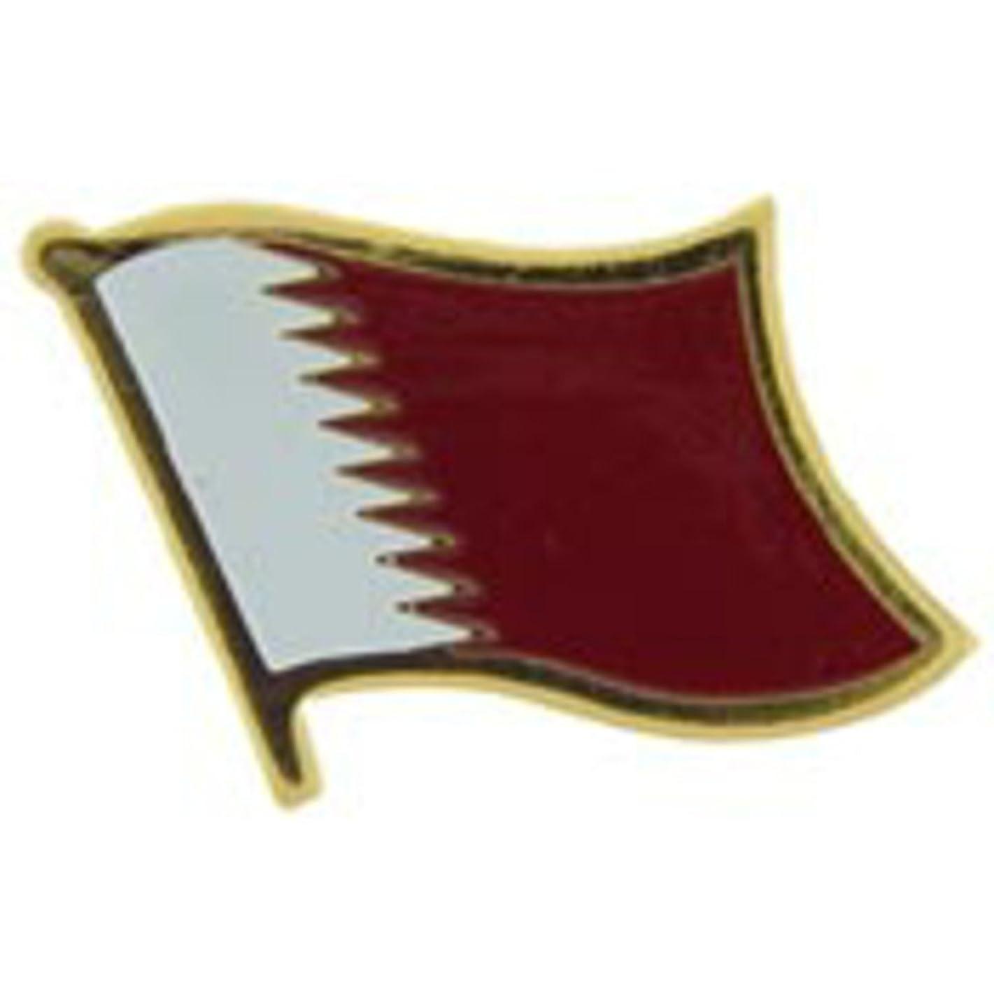 EagleEmblems P09648 PIN-Qatar (Flag) (1'')