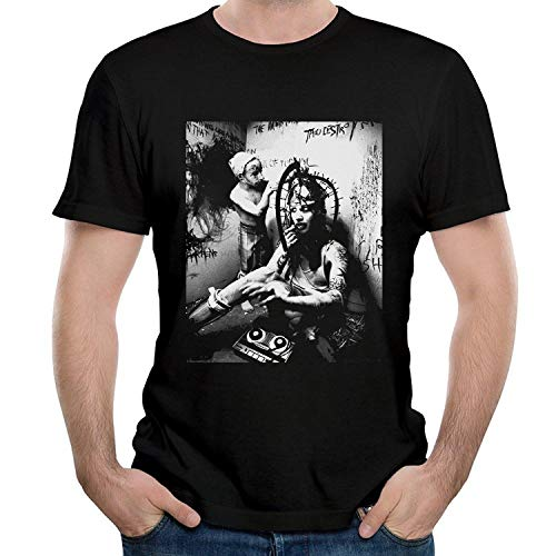 RWYZTX® Men's Marilyn and Manson and Bad and Emotion T Shirt Black