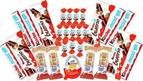 Caja de Regalo de Chocolate Kinder Variada, Caja de Selección de Chocolate, Cesta de Regalo de Chocolate de Perfecta para Todas las Ocasiones, Cumplaños, Aniversario o Navidad