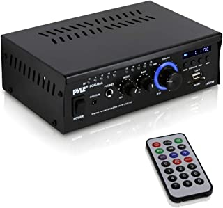 Home Audio Power Amplifier System - 2x120W Dual Channel Theater Power Stereo Receiver Box, Surround Sound w/ USB, RCA, AUX...