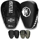Martial Pratzen mit hochwertiger Polsterung für optimale Schlagdämpfung. Boxpratzen mit Langer Haltbarkeit für Kampfsport, MMA, Kickboxen & Boxen. Boxpads mit idealer Passform - 1 Paar mit Beutel!