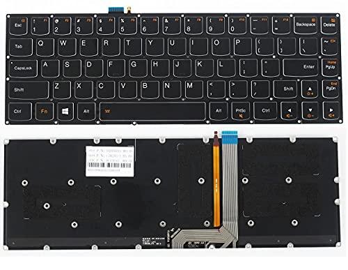 Ellenbogenorthese-LQ Nuevo Compatible con Lenovo Yoga 3 Pro 1370 Teclado retroiluminado en inglés de EE. UU.