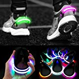 PROLOSO 8 Pack Shoe Lights for Runners Clip On Shoe Clip Lights for Running at Night Walking Jogging Biking Cycling Safety Accessories