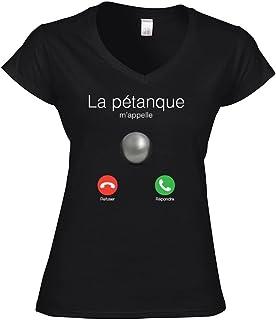 yonacrea Je Peux Pas JAi Ap/éro T-Shirt Col V Adulte