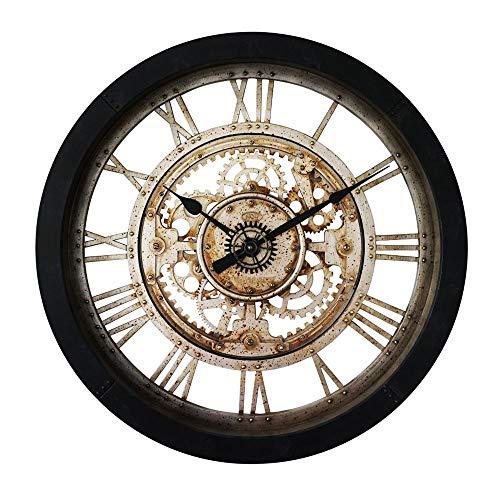 J-Wanduhren Imitation Iron Mechanische Uhr 24 Zoll Große Wanduhr Industrielle Retro Getriebe Kreative Wanduhr Wohnzimmer Schlafzimmer Quarzuhr