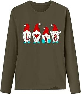 Holzkary Merry Christmas Shirt Women Print Sweatshirt Casual O Neck Long Sleeve Tops Blouse