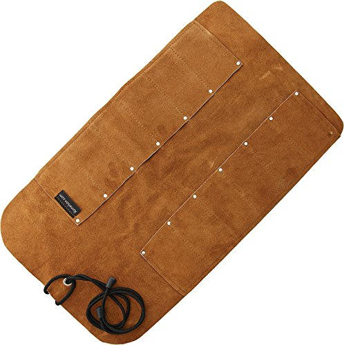 Ramelson   12 Pocket Leather Tool Roll   Organizer   Multi-Purpose   Woodcarving   Knives  