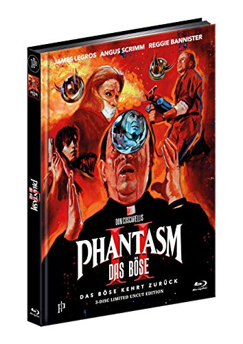 PHANTASM II - Das Böse kehrt zurück - ERSTMALS UNRATED - 3-Disc Ultimate Mediabook Cover A - Limited Edition [1 Blu-ray + 2 DVD] inkl. A1 Poster, gerollt