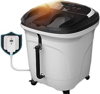 Bañera para pies Baño automático para el pie Masajeador eléctrico Calefacción para pies Barril Profundo Máquina para Masaje de pies Termostato casero (Color : Black, tamaño : 45cm)