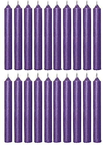 Biedermann & Sons 20 Unidades de Velas, Púrpura, 10,1cm, 1