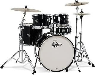 Gretsch GEX825ZB Energy 5-Piece Drum Set with Hardware & Zildjian Cymbals, Black