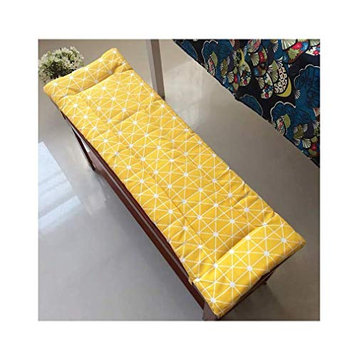 POETRY Swing tie anti-slip bench cushion 2 or 3 seat bench cushion Replacement cushion Travel mattress Indoor seat cushion Outside 3cm thick Washable (H 120x35cm)