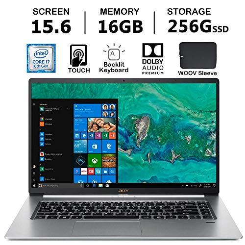 Acer Swift 5 Ultra-Thin & Lightweight Laptop   Intel Quad Core i7-8565U  16GB DDR4 RAM, 256GB PCIE SSD,   Full HD IPS Touch   Backlit Keyboard   Fingerprint   Only 2.2 lb   Windows 10   Woov Sleeve