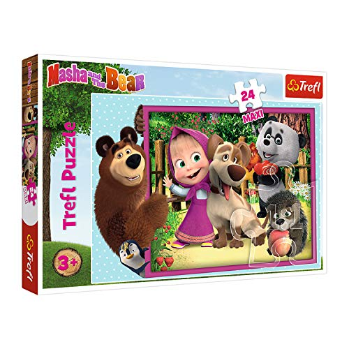 Trefl, Puzzle, Mascha und der Bär, 24 Maxiteile, Animaccord Masha and the Bear, für Kinder ab 3 Jahren