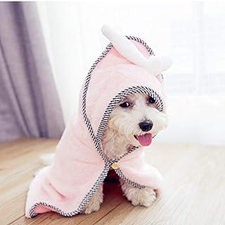 VICTORIE Toalla de Baño para Perro Gato Pequeño Mascotas Agua rápida Seca Absorbente Rosa S