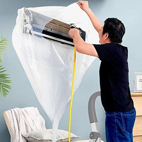 Further - Copertura per la pulizia del condizionatore, in PVC, impermeabile, riutilizzabile, per la pulizia di aria condizionata, senza smontaggio della polvere