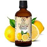 Aceite Esencial Limon 100ml - Citrus Limon Sin Diluir - Italia - 100% Natural & Puro para Aliviar la Tensión - Buen Sueño - Mejor para Humidificador - Aromaterapia - Relajación - Masaje