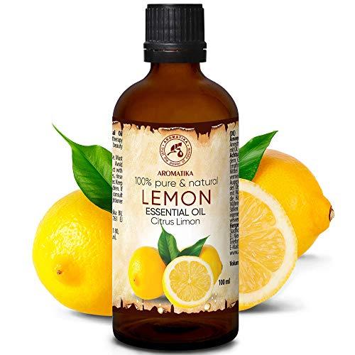 Olio Essenziale di Limone 100ml - Olio di Agrumi - Italia - Naturale e Puro 100% - Buon Sonno - Buonumore - Aromaterapia - Massaggi - Cura delle Unghie - Aroma Lamps - Lemon Essential Oil