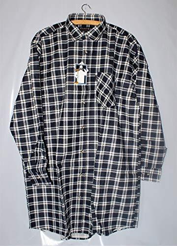 ELUTEX Flanellhemd Extralang Rückenlänge Karohemd 8300 Baumwolle Herren Hemd, Größe:XL, Farbe:Rot
