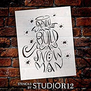 659ParkerRob Do You Want to Build A Snowman Stencil Reusable Mylar Template Use to Paint Wood Signs Pallets Pillows DIY Winter