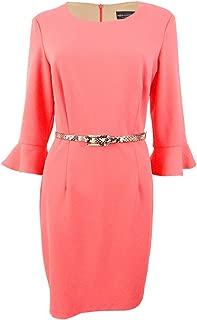 Women's Petite Bell-Sleeve Sheath Dress